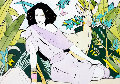 Untitled Watercolor (Woman With Deer) 1979 Watercolor - Patrick Nagel