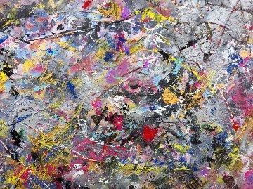 Stylistic Device 2012 78x78 Original Painting - Linda Naili