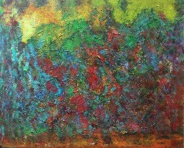 Dreams Land 2 2019 25x31 Original Painting - Linda Naili