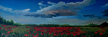 On a Cloudy Day 2009 27x53 Original Painting - David Najar