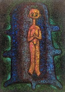 Paz Interior 1996 39x32 Original Painting by Hector Najera