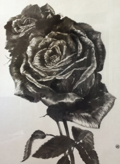 Two Roses VII 2004 23x27 Works on Paper (not prints) by Naoto Nakagawa