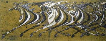 Seven Galloping Horses 1968 Limited Edition Print - Tadashi Nakayama