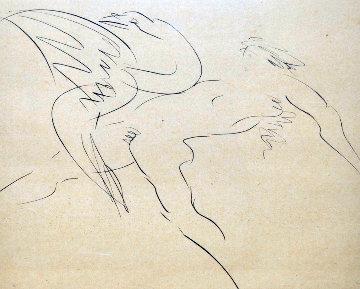 Leda And the Swan  1980 Limited Edition Print by Reuben Nakian