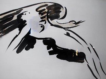 Leda And the Swan 1980 40x52 Huge Works on Paper (not prints) - Reuben Nakian