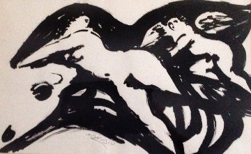 Europa And the Bull 1967 28x20 Early Works on Paper (not prints) by Reuben Nakian