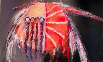 Shield 1984 46x72 Super Huge Original Painting - Dan Namingha