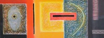 Pueblo Symbolism Series II 1995 21x38 Original Painting - Dan Namingha