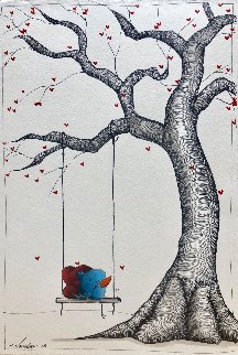 Best Way to Spend the Day 11x17 Works on Paper (not prints) by Fabio Napoleoni