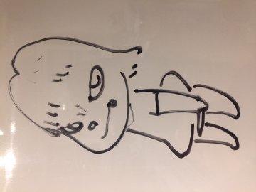 Untitled Drawing (Angry Girl)  2001 15x12 Drawing - Yoshitomo Nara