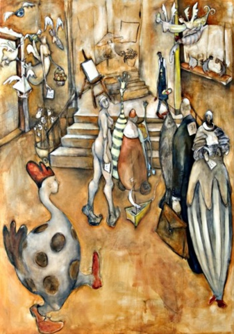 Audition of the Muses By an Uninspired Artist AP 2006 Limited Edition Print by Natasha Turovsky