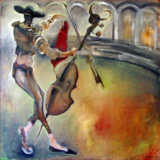 Bull Fight AP 2003 Limited Edition Print by Natasha Turovsky