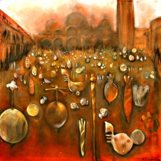 Carnival De Venice AP St Marks Square Limited Edition Print by Natasha Turovsky