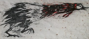 Rooster Unique Woodcut/monotype 1965 Limited Edition Print - Bruce Nauman