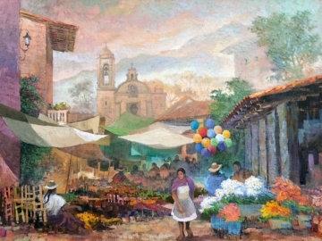 Tixtla, Edo, De Mexico 1985 Original Painting - Alberto Vazquez  Navarrete