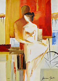 Lovers on Promenade Limited Edition Print by Adriana Naveh