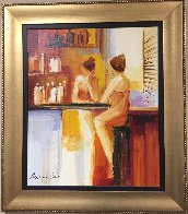 Reflective Moment 2005 30x27 Original Painting by Adriana Naveh - 1