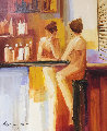 Reflective Moment 2005 30x27 Original Painting - Adriana Naveh