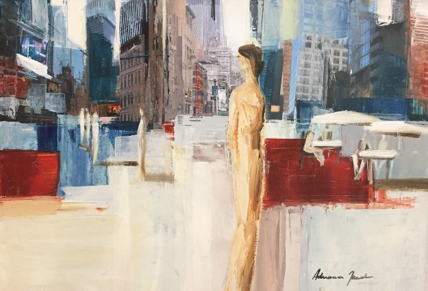 In the City 23x30 Original Painting by Adriana Naveh