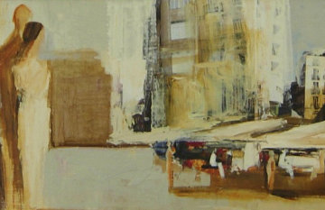 White City 23x48 Original Painting by Adriana Naveh