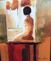 Contemplation 2006 32x27 Original Painting by Adriana Naveh - 2