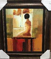 Contemplation 2006 32x27 Original Painting by Adriana Naveh - 1