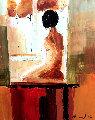 Contemplation 2006 32x27 Original Painting - Adriana Naveh