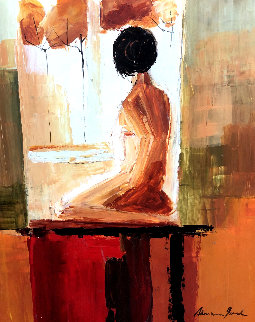 Contemplation 2006 32x27 Original Painting - Adriana Naveh