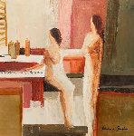 At the Jazz Bar 30x30 Original Painting - Adriana Naveh
