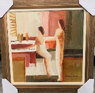 At the Jazz Bar 30x30 Original Painting by Adriana Naveh - 1