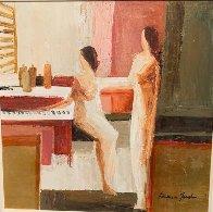 At the Jazz Bar 30x30 Original Painting by Adriana Naveh - 3