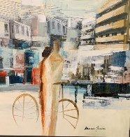 City Ride 32x32 Original Painting by Adriana Naveh - 2