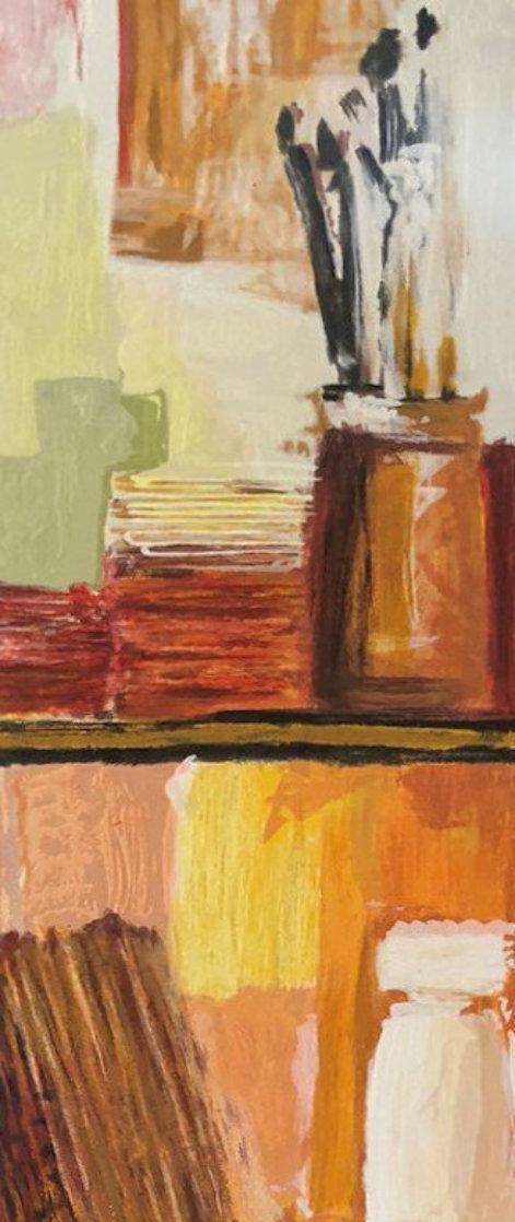Artist Bookcase 39x10 Original Painting by Adriana Naveh