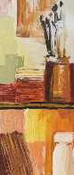 Artist Bookcase 39x10 Original Painting by Adriana Naveh - 0