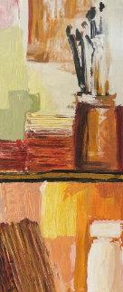 Artist Bookcase 39x10 Original Painting - Adriana Naveh