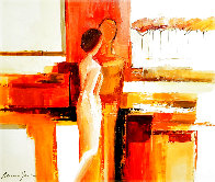 Best Friends 2006 43x51 Super Huge Original Painting by Adriana Naveh - 0