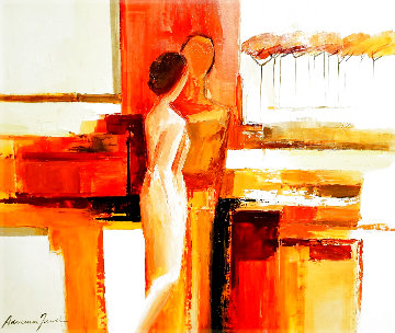 Best Friends 2006 43x51 Original Painting - Adriana Naveh