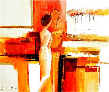 Best Friends 2006 43x51 Huge Original Painting - Adriana Naveh