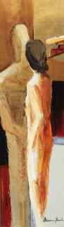 First Kiss 48x22 Original Painting - Adriana Naveh