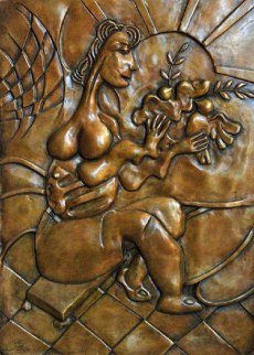 Let There Be Peace Bronze Bas Relief Sculpture 2008 Sculpture by Alexandra Nechita