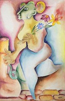 I Am, I Need, I Want, I Feel 2007 48x36 Original Painting by Alexandra Nechita