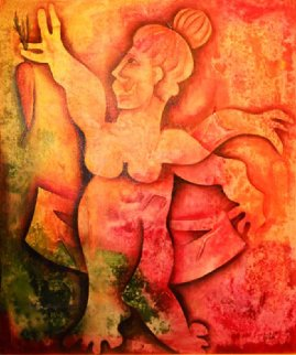 Vegetarian To Be 2005 48x42 Original Painting - Alexandra Nechita