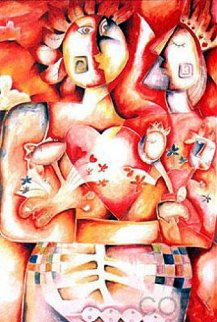 All For One, One For All 1997 Limited Edition Print by Alexandra Nechita
