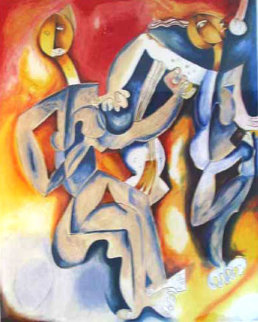 Your Guitar and My Music 1998 Limited Edition Print by Alexandra Nechita