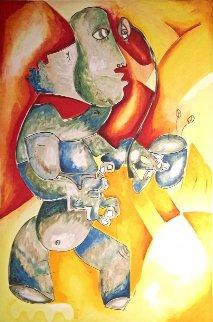 Green Hot Tea 1997 Limited Edition Print by Alexandra Nechita