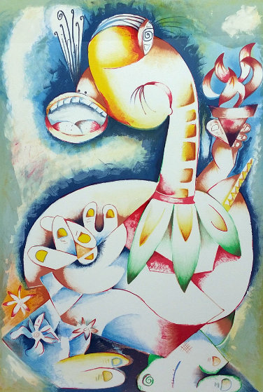 My Torch Shall Guide Me 1996 Limited Edition Print by Alexandra Nechita
