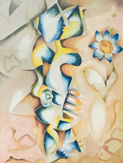 Earthly Flower 1999 Limited Edition Print by Alexandra Nechita