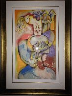 Wine Taster 2003  Overpaint Limited Edition Print by Alexandra Nechita - 1