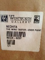 Wine Taster 2003  Overpaint Limited Edition Print by Alexandra Nechita - 5
