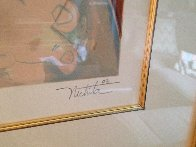 Wine Taster 2003  Overpaint Limited Edition Print by Alexandra Nechita - 2